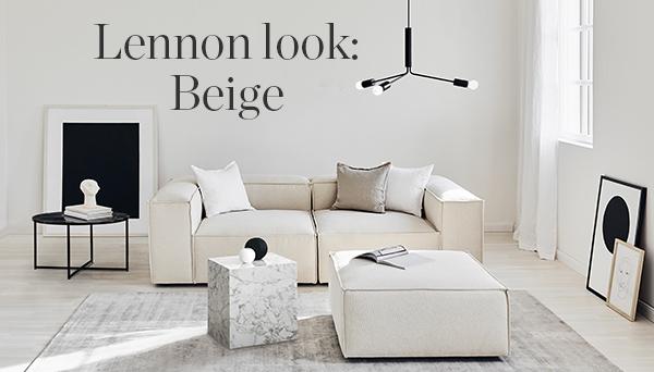Lennon look: Beige