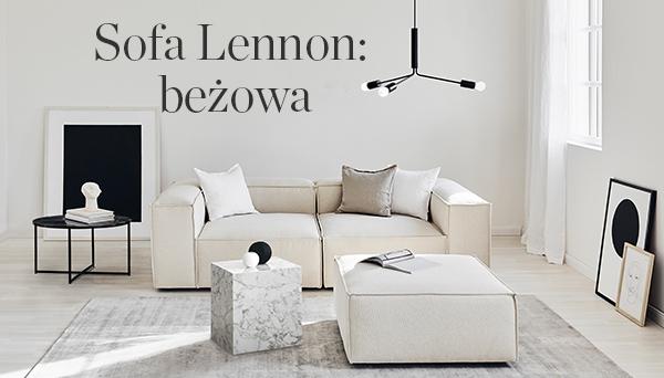 Inne produkty z aranżacji »Sofa Lennon: beżowa«