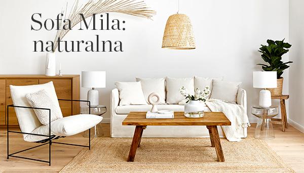 Inne produkty z aranżacji »Sofa Mila: Natural«