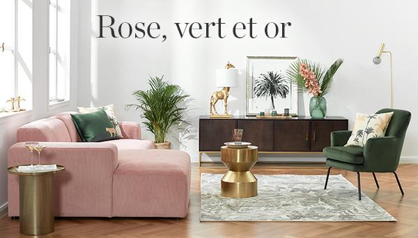 Autres articles du look »Rose, vert et or«