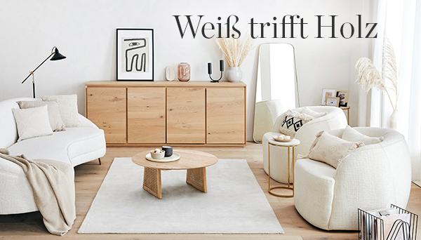 Weiß trifft Holz
