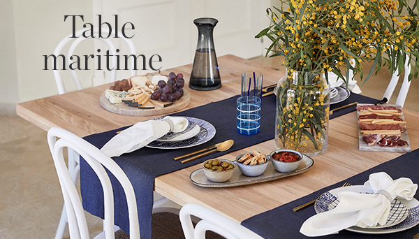 Autres articles du look »Table maritime«