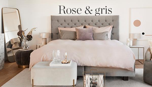 Rose & gris