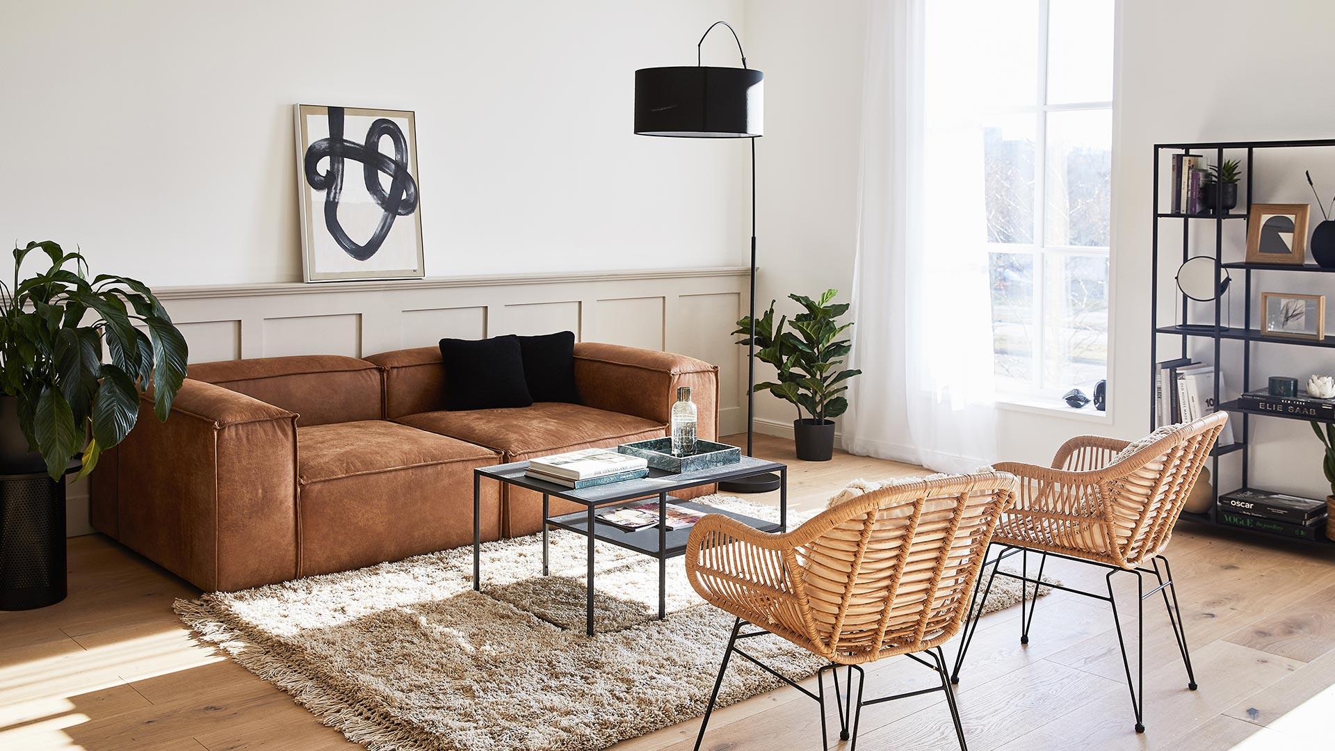 Sofa-Star aus Leder