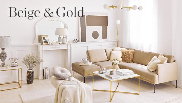 Beige & Gold