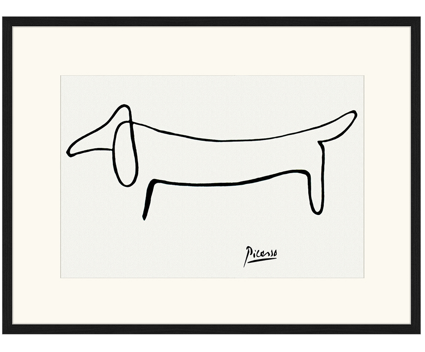 Gerahmter Digitaldruck Dog From Pablo Picasso