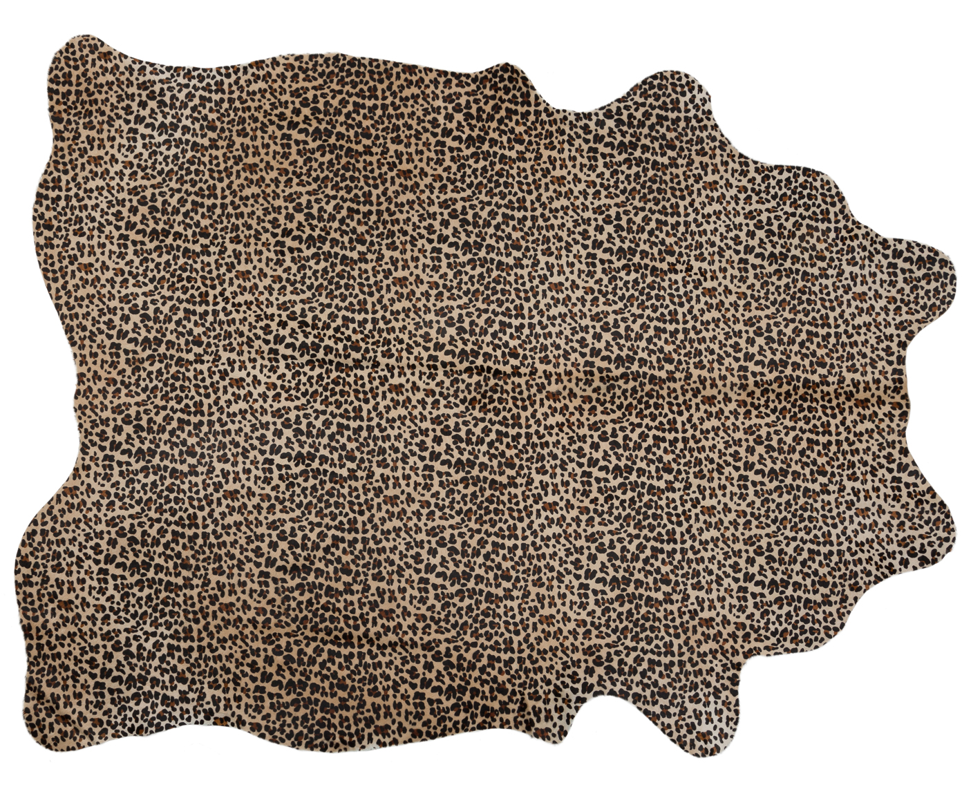 Kuhfell-Teppich Leopard