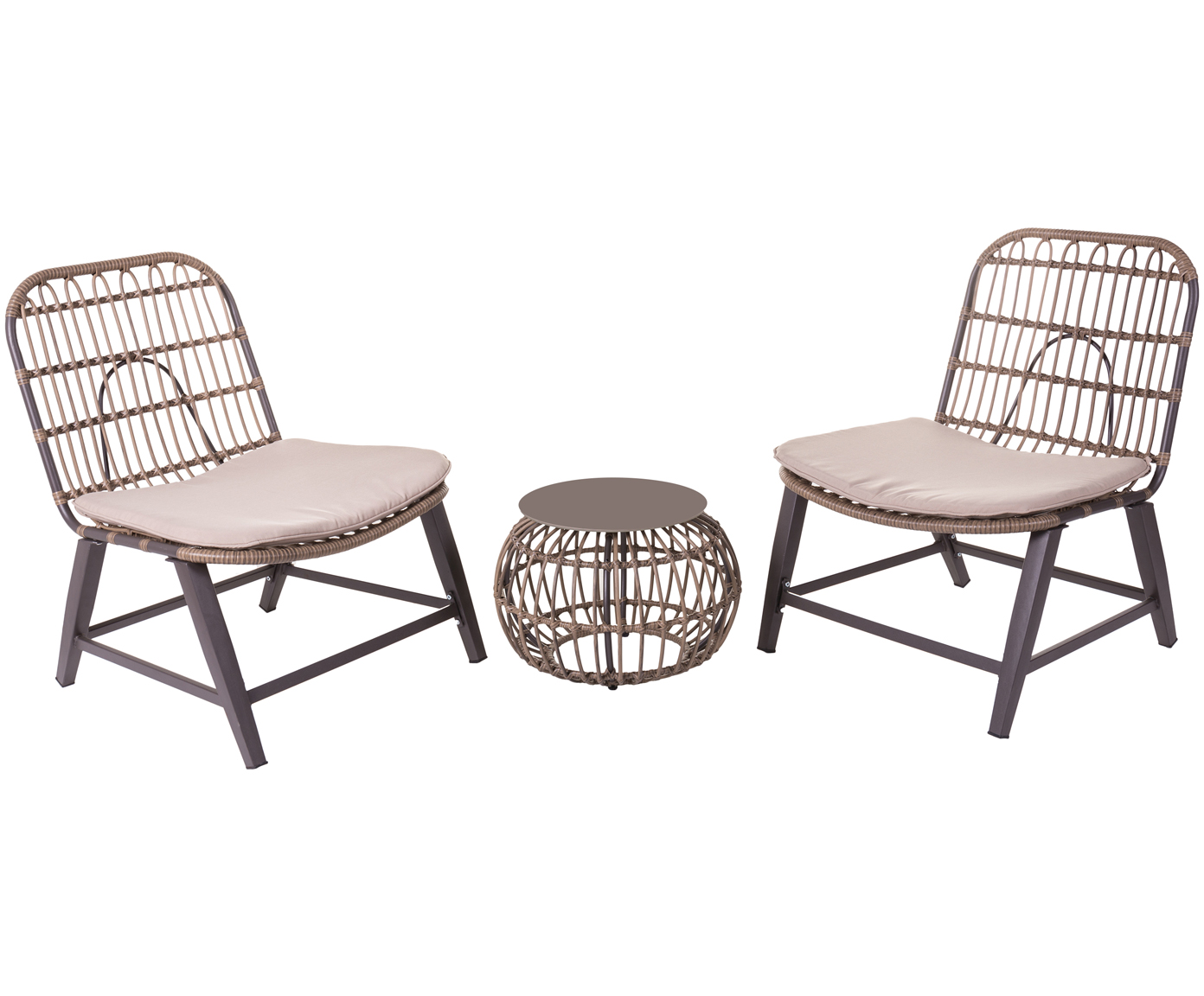 Outdoor-Lounge-Set Ariki, 3-tlg.