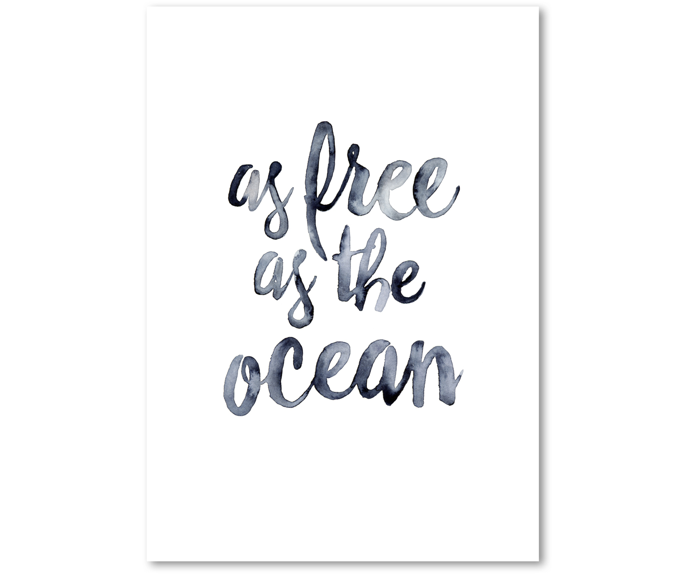 Poster As Free As The Ocean