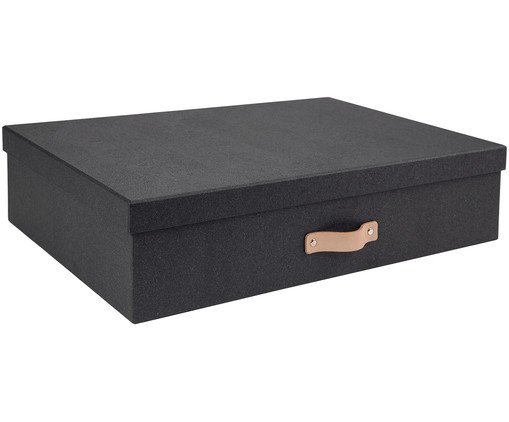 aufbewahrungsbox in schwarz bigso box of sweden westwingnow. Black Bedroom Furniture Sets. Home Design Ideas