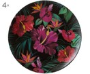 Dinerborden Tropical Flower, 4 stuks