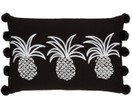 Besticktes Leinen-Kissen Tree Pineapples