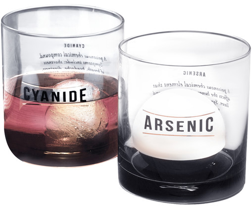Cocktailglas-Set Cyanide & Arsenic, 2-tlg., Braun