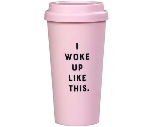 Coffee-to-go-Becher Woke up like this, Rosa