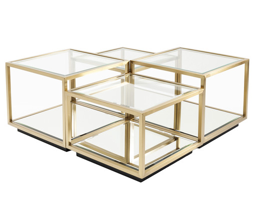 Couchtisch Set In Gold Westwingnow