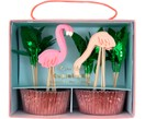 Cupcake-Set Flamingo, 24-tlg.