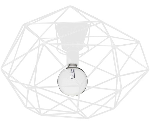 Plafondlamp Diamond, Wit