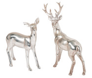 Ensemble de figurines décoratives cerfs Silver Forrest, 2 élém.