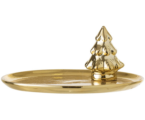Deko-Tablett Christmas Tree, Goldfarben