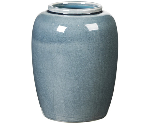 Vaso decorativo Crackle, Blu oceano