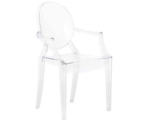Silla con reposabrazos Louis Ghost