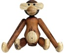 Teakhouten decoratief designer object Monkey