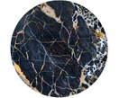 Digitale print op hout Black Marble