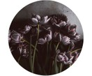 Digitale print op hout Dark Tulips