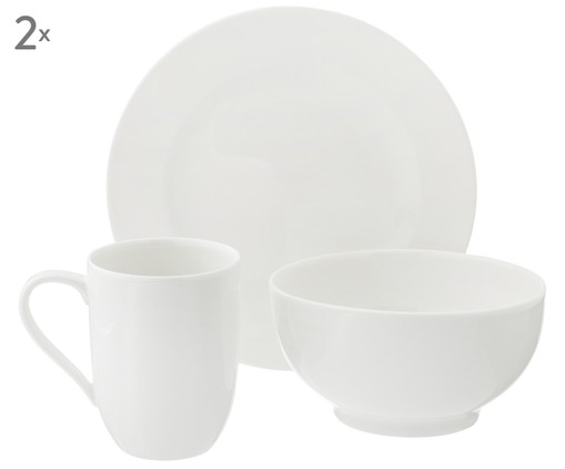Koffieservies For Me, 6-delig (2 personen), Gebroken wit