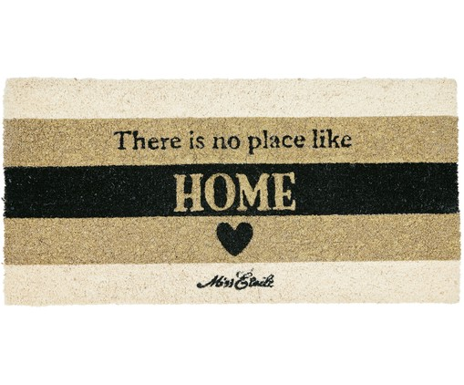 Tappeto No Place Like Home, Beige, nero, dorato