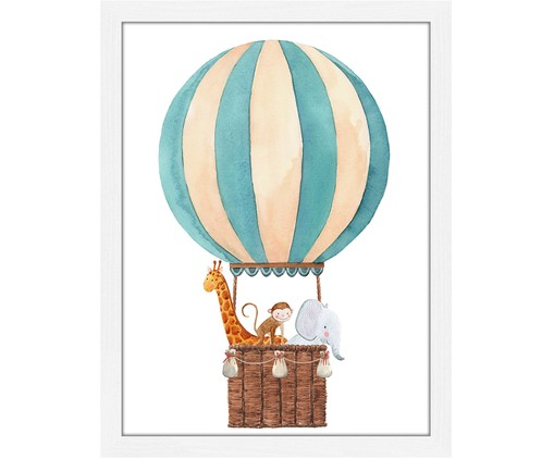Gerahmter Digitaldruck Balloon with Animals