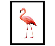 Ingelijste digitale print Flamingo II