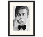 Ingelijste digitale print James Bond Drinking