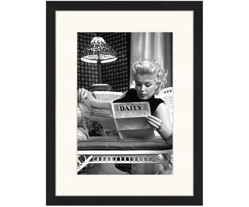 Stampa digitale incorniciata Marilyn Monroe Reading