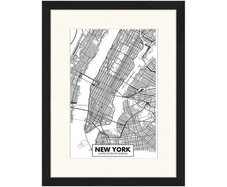Ingelijste digitale print New York
