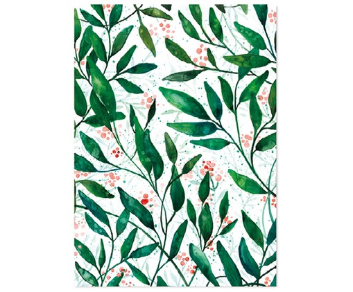 Papeles para regalos Green Leaves, 3 uds.