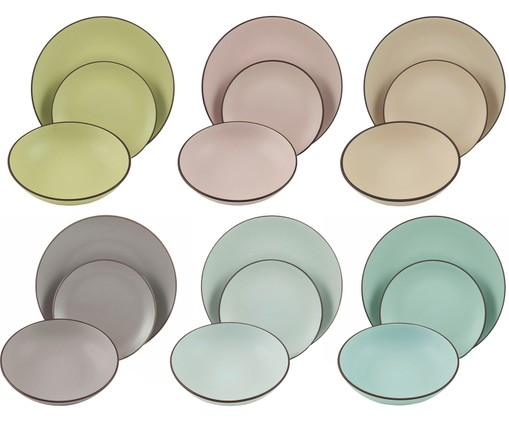 Set di piatti Kora Light, 18 pz., Multicolore
