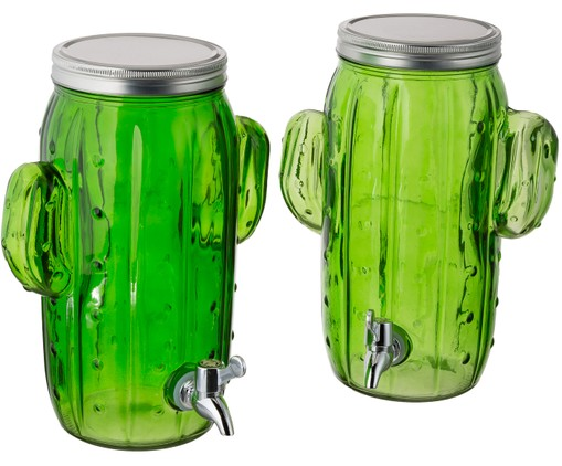 Set de dispensadores de bebidad Cactus, 2 uds.