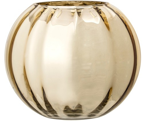Glas-Vase Viola in Gold, Goldfarben