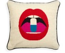 Coussin design brodé main Lips Pill
