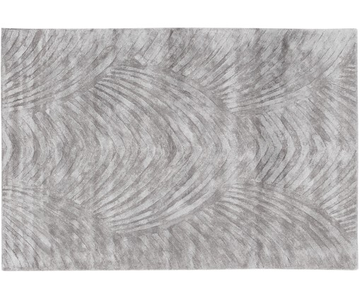 Tapis en viscose tufté à la main Bloom, Gris