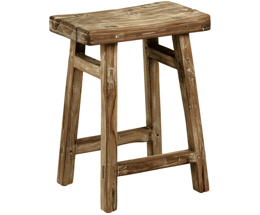 Hocker Rustic, Teak