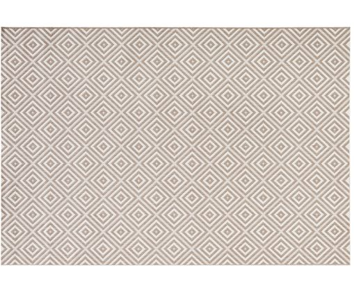 In- & outdoorvloerkleed Meadow Karo, Taupe, beige