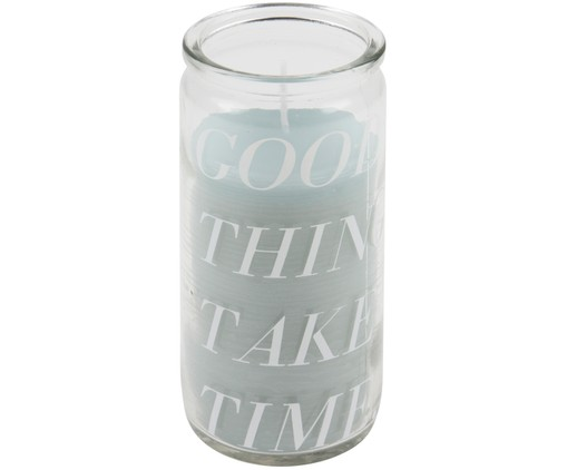 Bougie Good Things, Transparent, couleur menthe