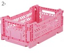 Caisse de rangement Baby Pink, empilable, taille moyenne