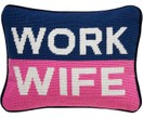 Petit coussin design Work Wife