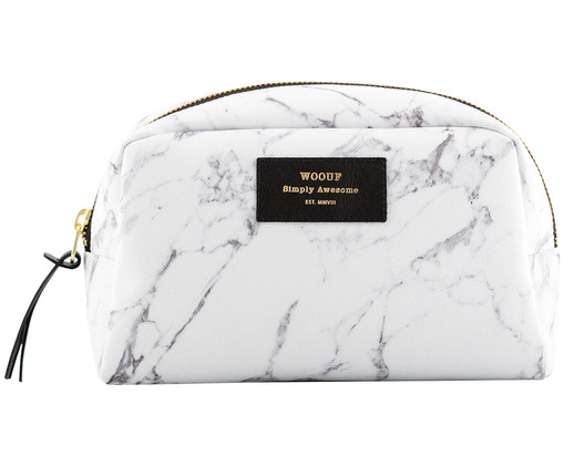 Make-up tas White Marble, Wit