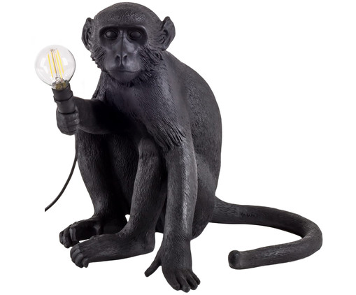 LED buitentafellamp Monkey, Zwart