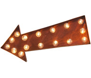LED Leuchtobjekt Rust Arrow