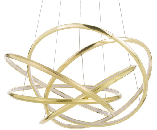 LED Pendelleuchte Saturn in Gold, Goldfarben